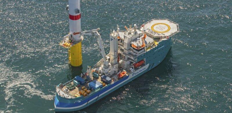 Acta Marine heeft in het Borssele windenergiegebied onder andere de Acta Centaurus ingezet. (Foto: Acta Marine)