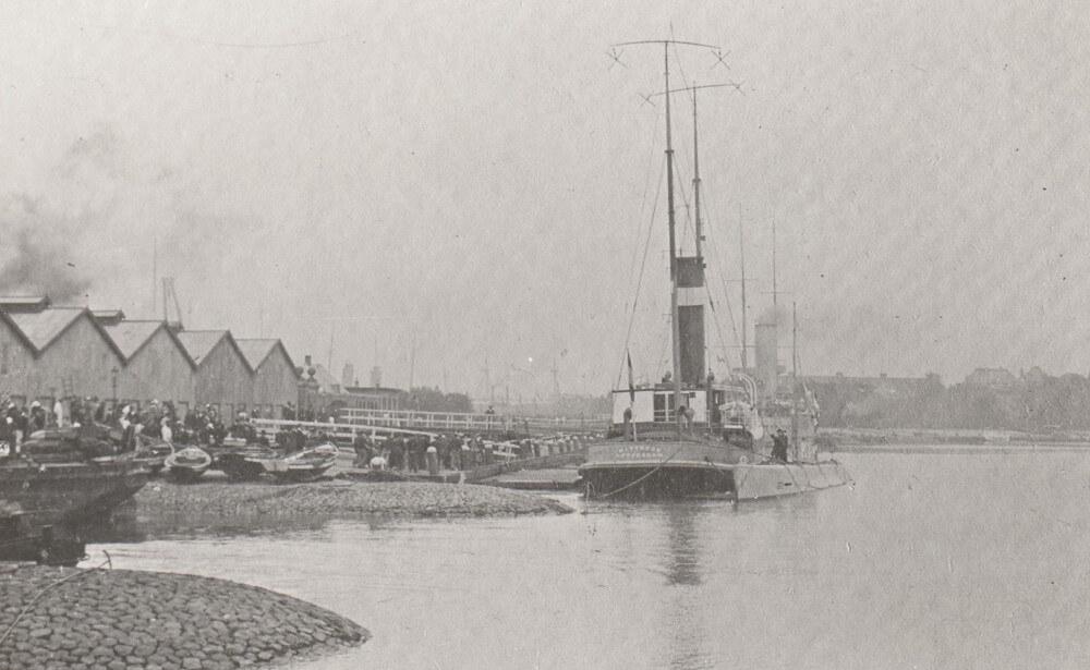 Het transport vlak voor het vertrek op 12 september 1916