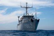 Spanje , Almeria 9 juni 2011.Missie Frontex waarbij Nederlandse mijnenjagers patrouilleren ineen gebied voor de zuidkust van Spanje om zo immigranten die via het water de kust hopen te bereiken te onderscheppen..foto: M862 HMs Zierikzee